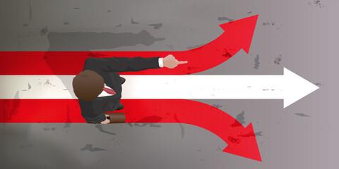 Leadership - direction - Homme vu du dessus - Leader