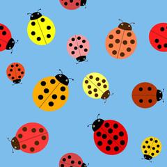 Seamless the ladybugs.