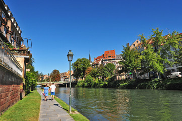 Strasburgo - Strasbourg, case e canali della Petite France, Alsazia