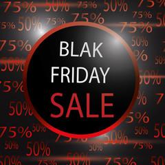 Black Friday sale. Sale illustration. Best price vector.