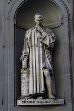 Niccolo Machiavelli statue in Florence