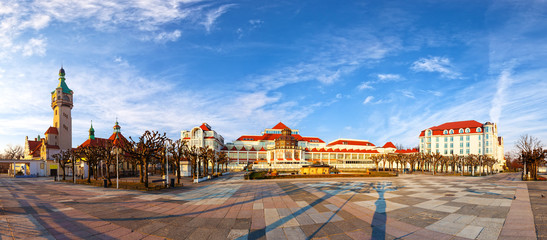 Beautiful architecture of Sopot at morning, Poland.