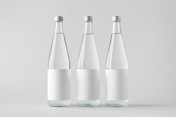 Water Bottle Mock-Up - Three Bottles. Blank Label