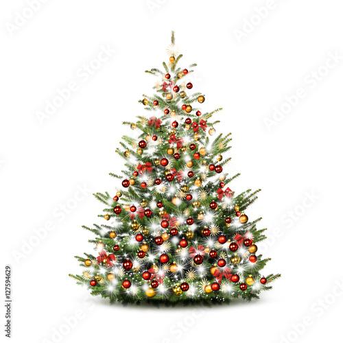 festlich geschm ckter weihnachtsbaum stockfotos und. Black Bedroom Furniture Sets. Home Design Ideas