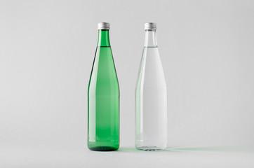 Water Bottle Mock-Up - Two Bottles