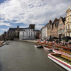pont et église st michel à gand, belgique