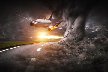 Plane taken down by a large tornado