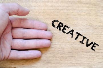 Creative text concept