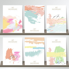 Light pink blue green yellow collection for banners, Flyers, Pla