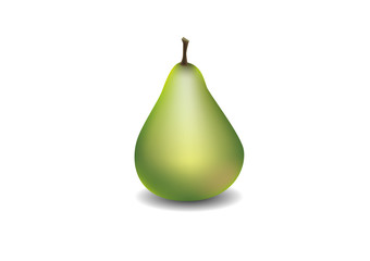 Isolated pear. Vector illustration