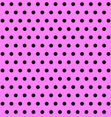 Pink Background with Large Polka Dots