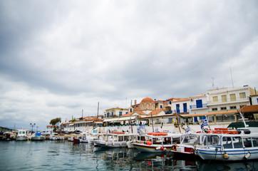 Greek Aegina island port