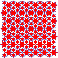Repeating Star Pattern