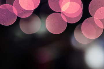 Background with Christmas lights with bokeh