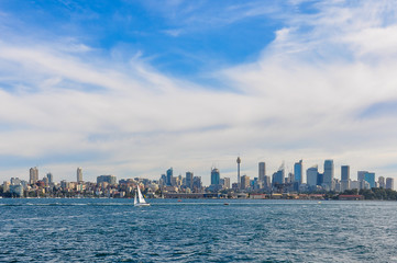 Fototapete - Skyline from the Manly Ferry in Sydney, Australia