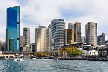 Fototapete - CBD from the Manly Ferry in Sydney, Australia