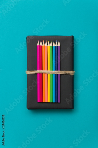 Colorful School And Office Supplies Pencils And Ruler