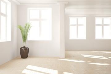 White empty room. Scandinavian interior design