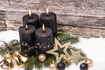 Weihnachten golden Advent