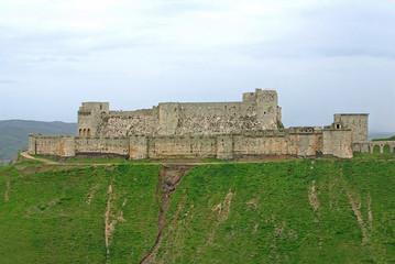 Krak des Chevaliers a famous medieval castle in Syria