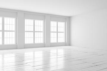 White room interior mock up