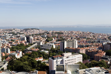 Panomaric view over Lisbon