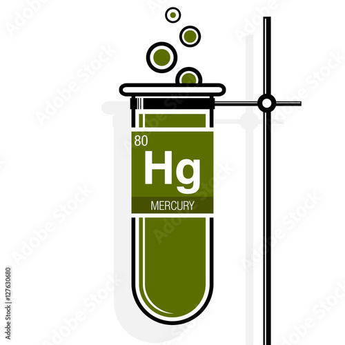 Mercury symbol on label in a green test tube with holder element mercury symbol on label in a green test tube with holder element number 80 of urtaz Choice Image