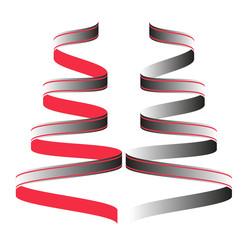 vector illustration of a colored ribbon set, set di nastri colorati vettoriali