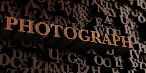 Photograph - Wooden 3D rendered letters/message.  Can be used for an online banner ad or a print postcard.