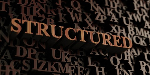 Structured - Wooden 3D rendered letters/message.  Can be used for an online banner ad or a print postcard.