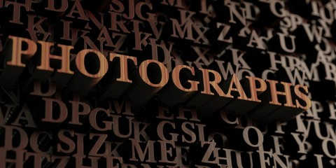 Photographs - Wooden 3D rendered letters/message.  Can be used for an online banner ad or a print postcard.