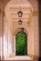 Passage in Lazienki park Warsaw