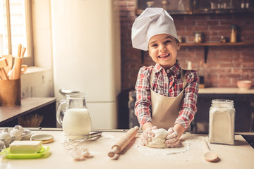 Little girl baking