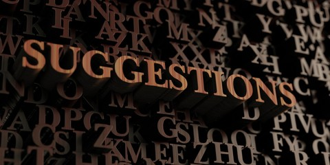 Suggestions - Wooden 3D rendered letters/message.  Can be used for an online banner ad or a print postcard.
