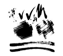 Brush stroke vector set.