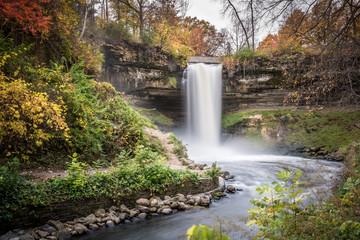 Minnehaha Falls in Autumn 1