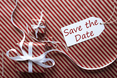 Save The Date Weihnachtsfeier.Gifts With Label Snowflakes Weihnachtsfeier Means Christmas Party