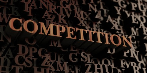 Competition - Wooden 3D rendered letters/message.  Can be used for an online banner ad or a print postcard.