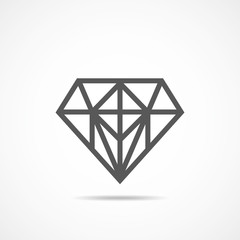 Diamond icon. Vector illustration.