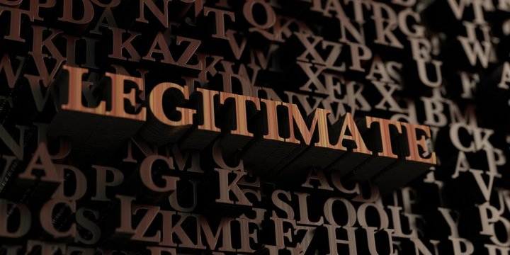 Legitimate - Wooden 3D rendered letters/message.  Can be used for an online banner ad or a print postcard.