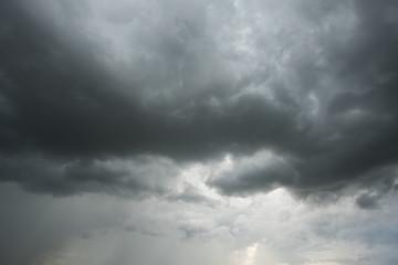 Dramatic Dark sky and rainy