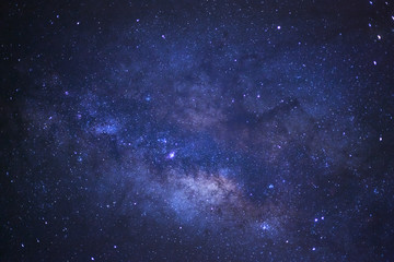 Close-up milky way galaxy with stars and space dust in the unive