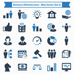 Business Ultimate Icons - Blue Series (Set 2)