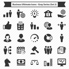 Business Ultimate Icons - Gray Series (Set 2)