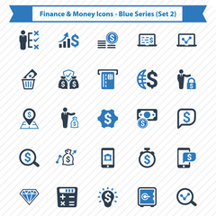 Finance & Money Icons - Blue Series (Set 2)