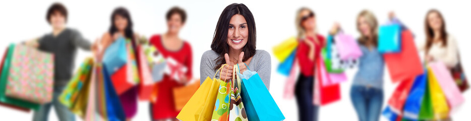Group of shopping customers