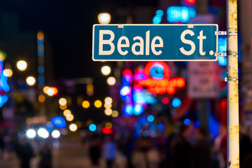Beale street sign Wall mural