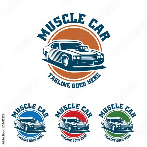 muscle car logo retro logo style vintage logo stock image and rh fotolia com muscle car logo images muscle car logos 99designs