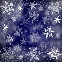 Fond carré bleu nuit, étoiles. Carte de vœux