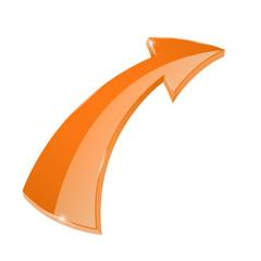 Orange curved arrow